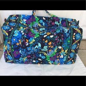 518063fa0ba4 Vera Bradley Bags - Vera Bradley large duffel Midnight Blues